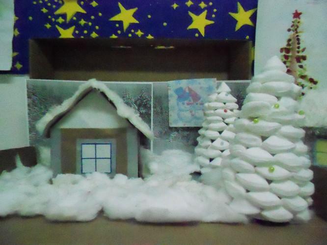 Зима поделка в школу