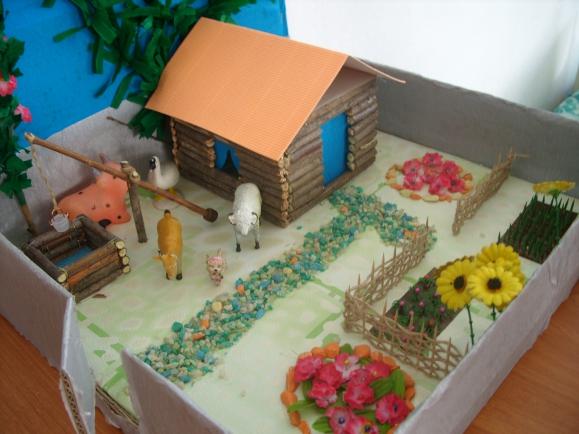 Проект деревенский двор как сделать