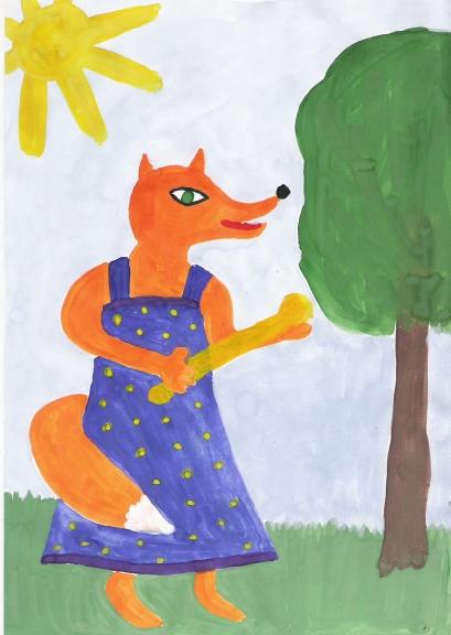 Рисунки лисичек из сказок