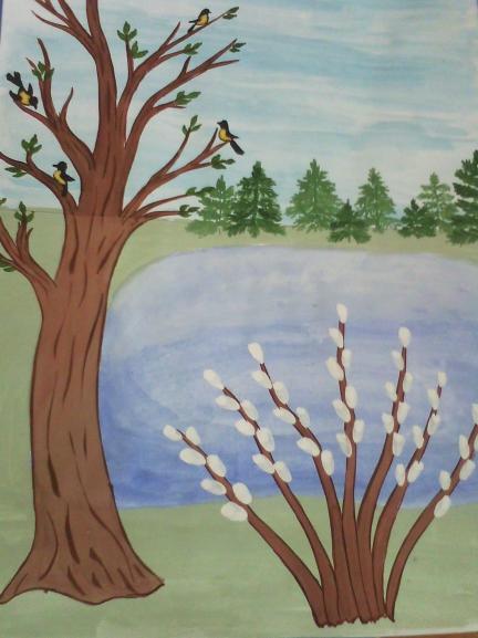 Рисунок на тему весна пришла