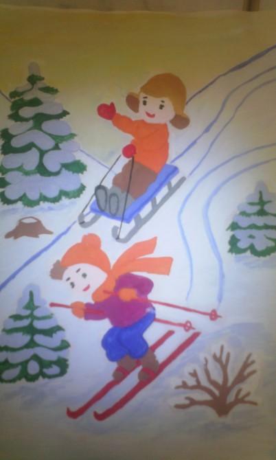 картинки н тему зимний спорт старшая группа также