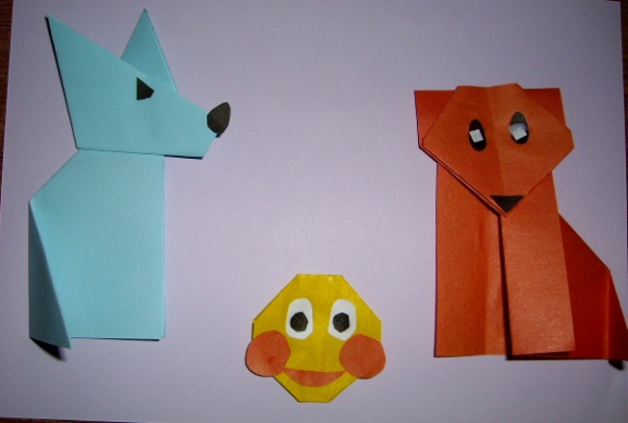 Колобок из оригами схема
