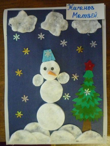 Сделать поделку снежный ком