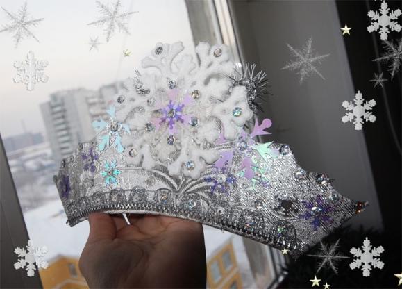Корона зимы из бумаги своими руками