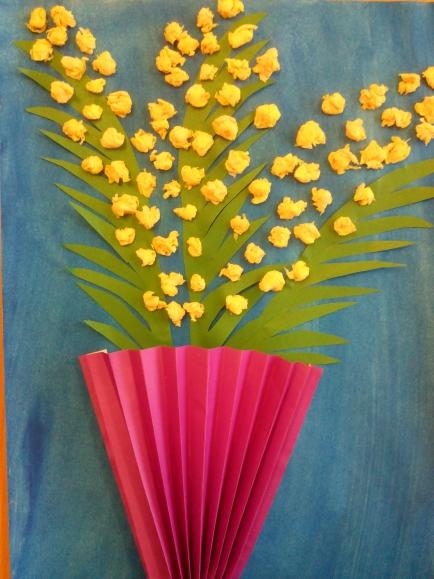 Как сделать вазу с цветами в открытке, прощенное воскресенье