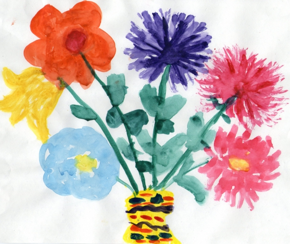 Картинки рисование цветов в средней группе