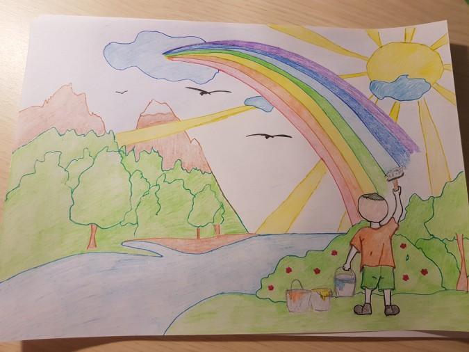Нарисовать картинку мир глазами ребенка