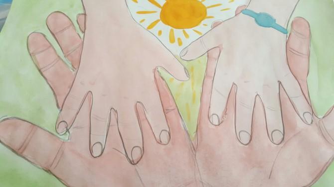 Рисунок мамины руки золотые
