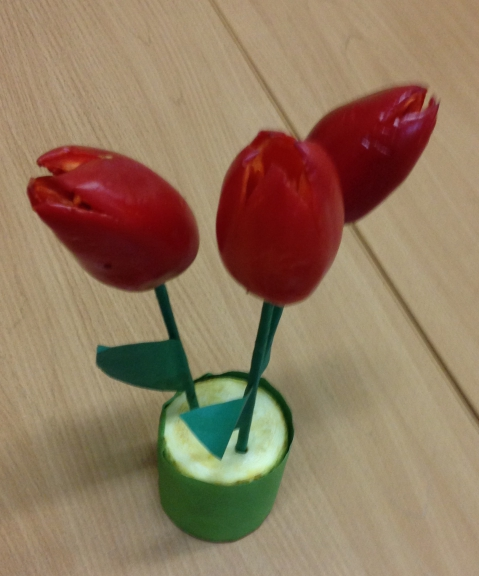 Цветок из перца как сделать
