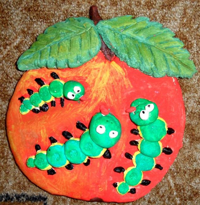 Гусеница поделка для детского сада 91