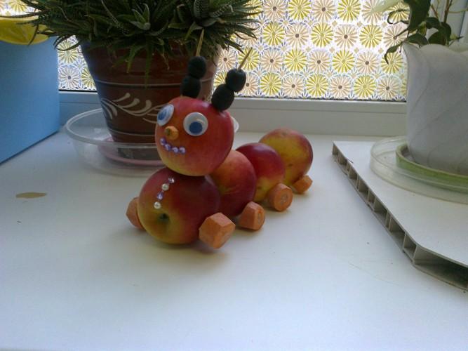 Поделки из яблок машинки 72