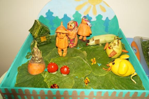 Овощные поделки из сказок