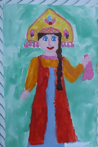 Рисунок русская красавица 4 класс