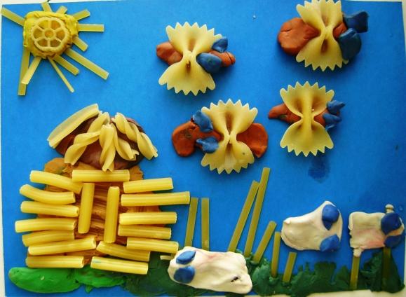 Картинки для поделок макароны для детей