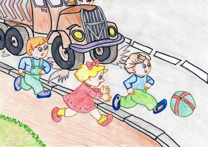 рисунок на тему правила поведения на дороге развитие порока могут