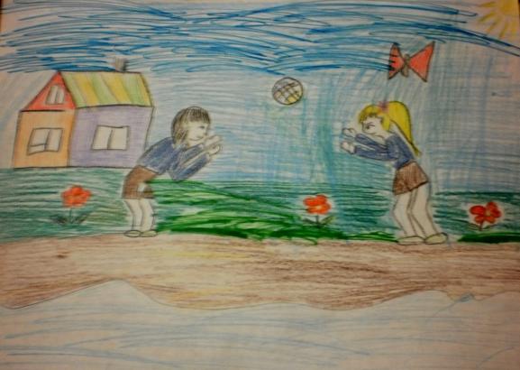 """Конкурс детского рисунка. .  Февраль 2014. .  Дошкольники. следующее фото.  Название:  """"За здоровый образ жизни """"..."""