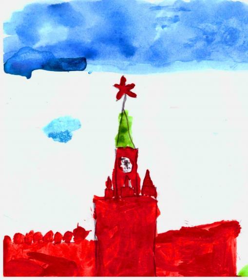 Спасская башня картинки нарисованные, картинки