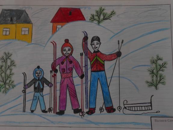 Мама папа я спортивная семья рисунки для детей в школу