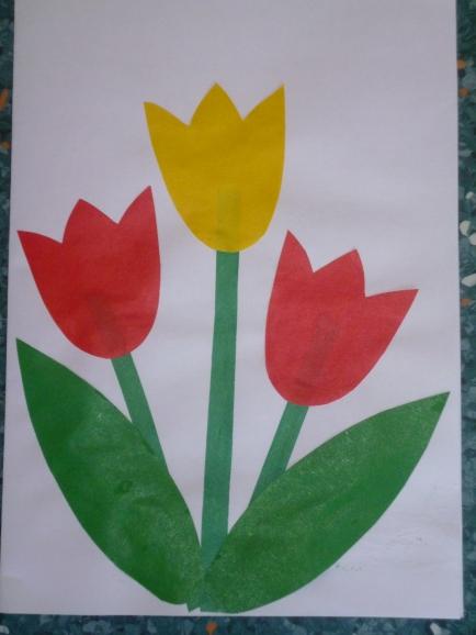 Аппликации из бумаги тюльпаны