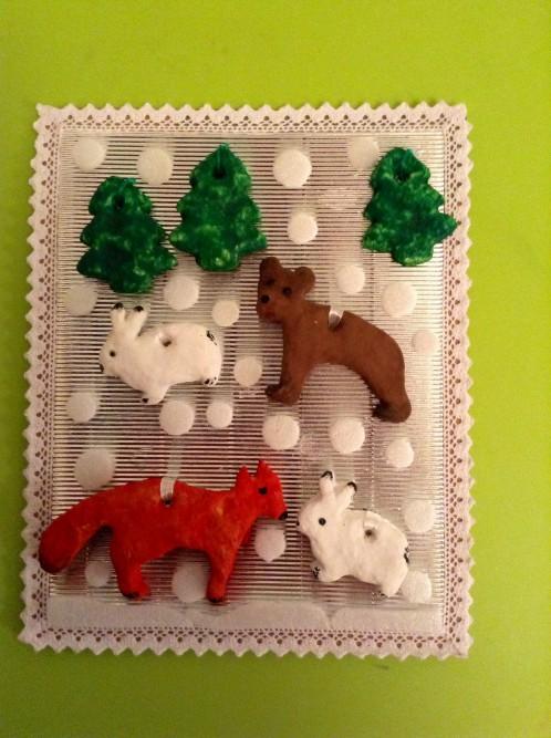 Поделка с лесными животными