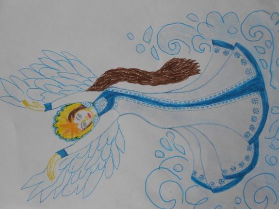 Царевна лебедь картинка карандашом
