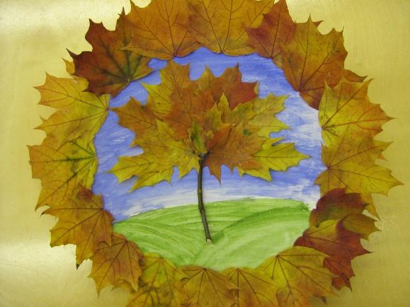 Поделки из клёновых листьев 733
