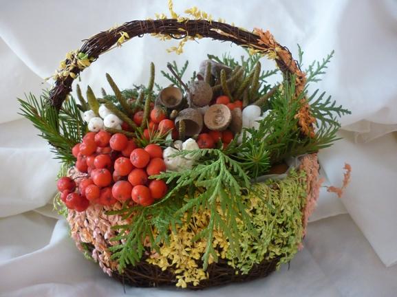 Поделка дары осени корзинка 43