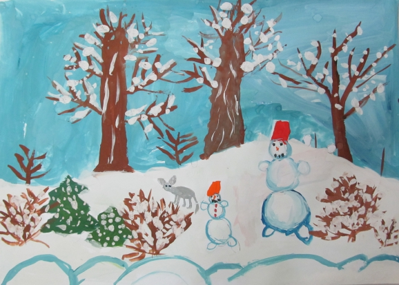 картинки зима в подгот группе