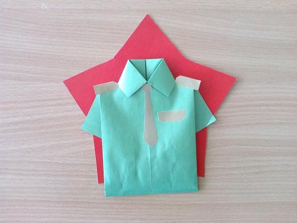 Оригами подарок папе рубашка 47