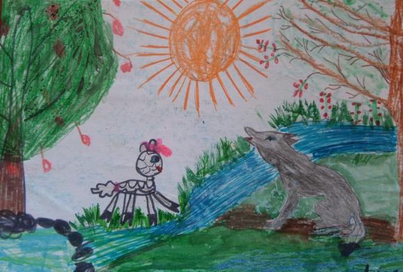 картинки как нарисовать волка и ягненка быстрая