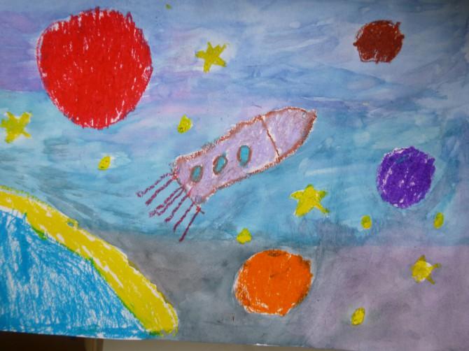 Конкурс детского творчества космос