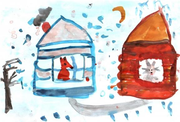 Избушка лубяная и ледяная