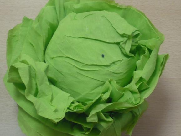 Как сделать листья капусты из бумаги
