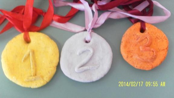 Поделка олимпийская медаль 57