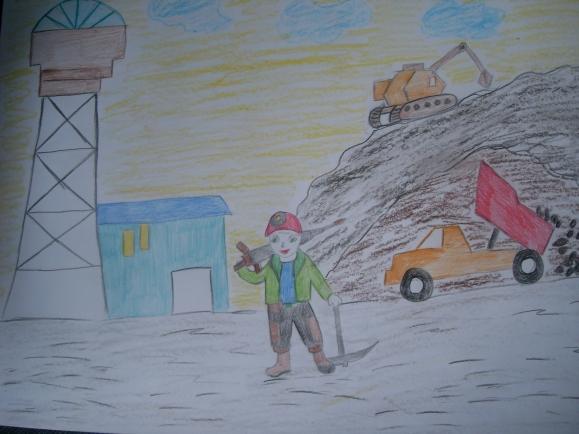 Рождество открыткой, день шахтера рисунок детей