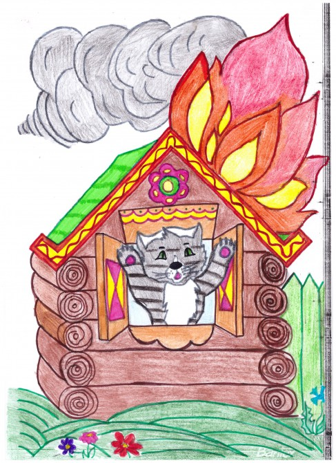 Картинки к сказке кошкин дом раскраска