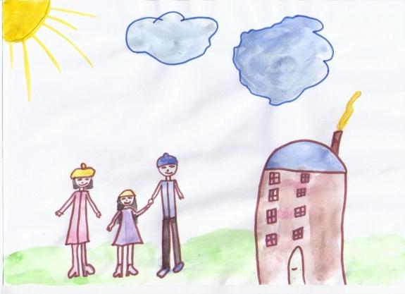 рисунок мама семья