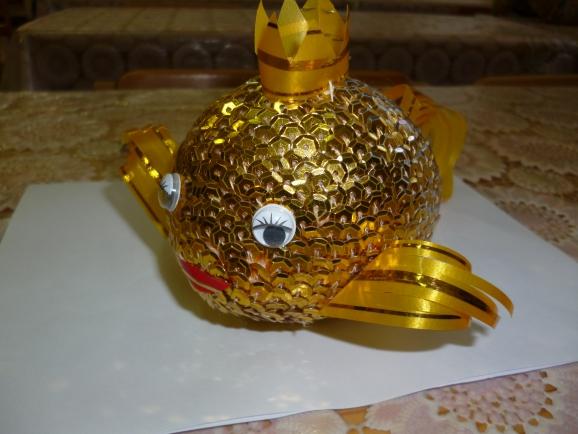 Поделка золотой рыбки 80