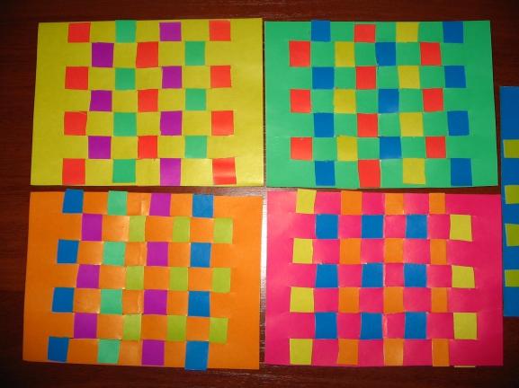 Как сделать коврик из цветной бумаги своими руками 2 класс