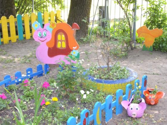 Оформление цветника в детском саду своими руками фото