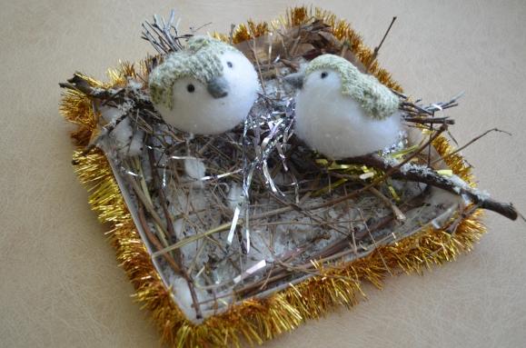 Поделки своими руками гнездо с птенцами 16