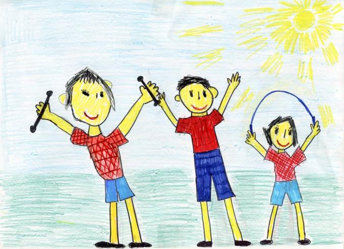 Детские картинки папа мама я спортивная семья