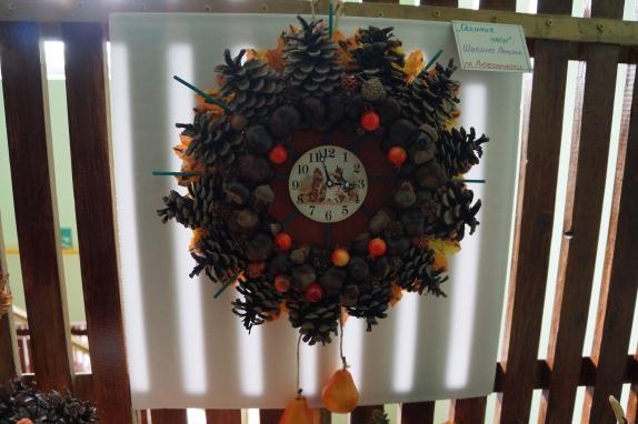 Часы из природного материала своими руками на тему осень 32