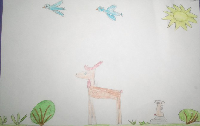 тундра рисунок 4 класс