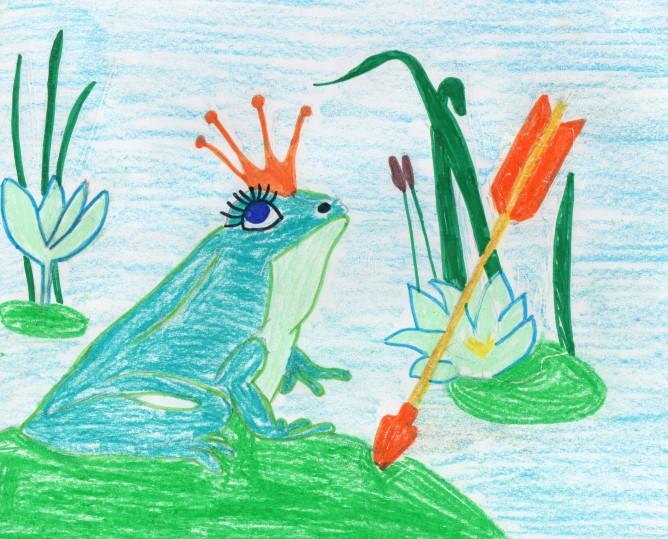 Детские рисунки по сказке царевна лягушка