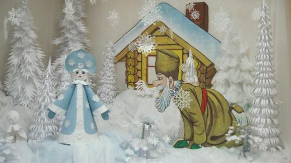 Новогоднее оформление детского сада.