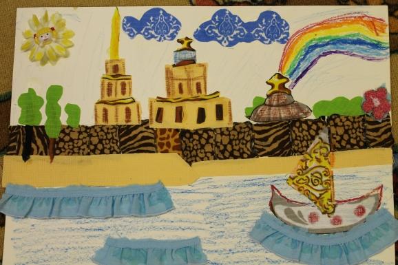 Детские, открытка ко дню города для детского сада