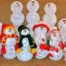 Снеговик шары из ниток своими руками фото - Lance-lot.ru