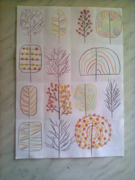 Как нарисовать осень карандашом в школу 2 класс - 83c5