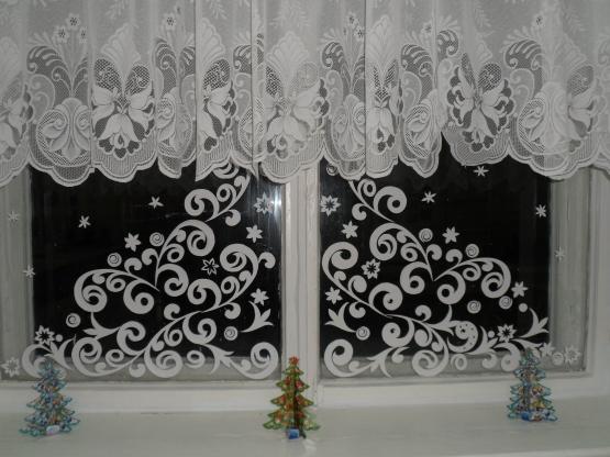 Зимние узоры из бумаги на окна своими